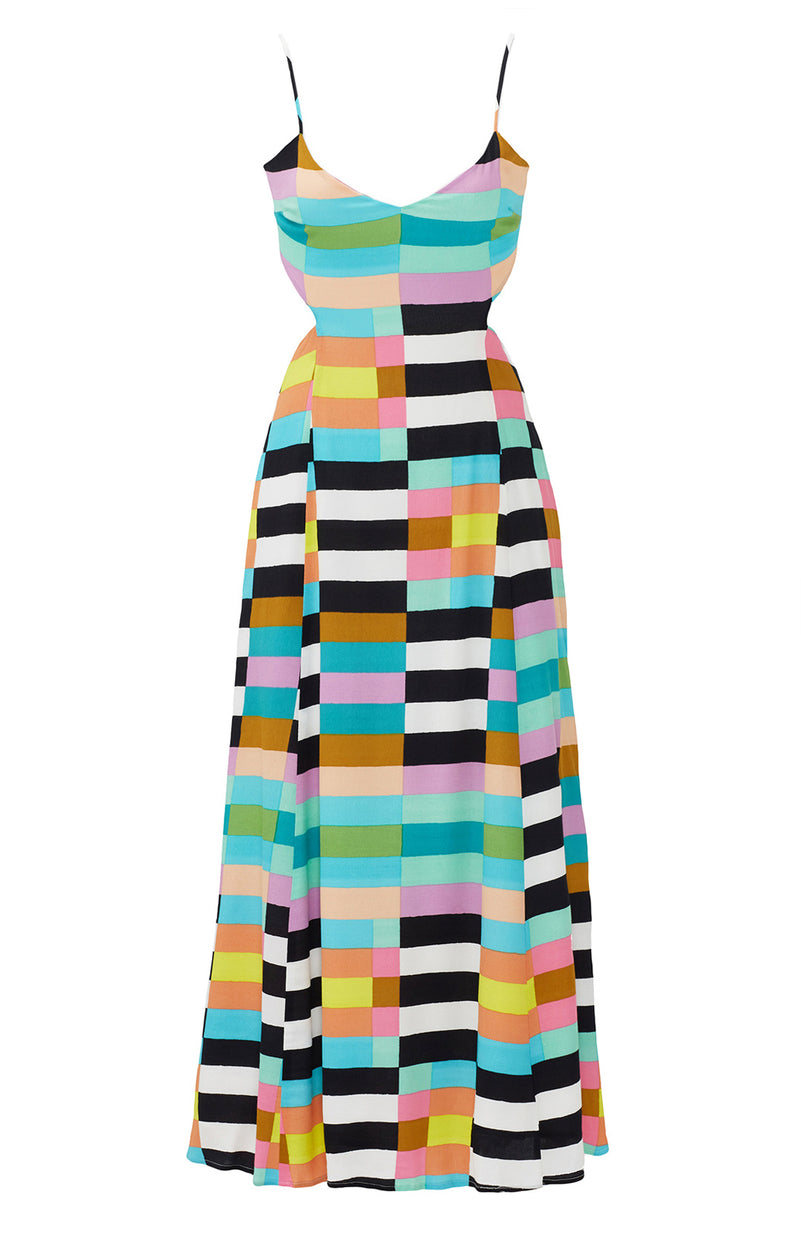 Rainbow Striped Dress