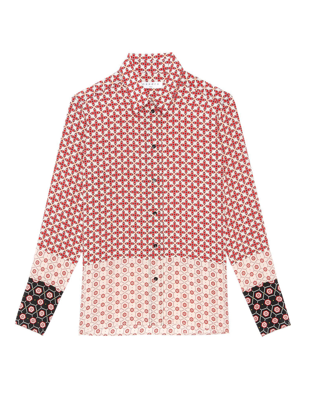 Silk Patterned Blouse