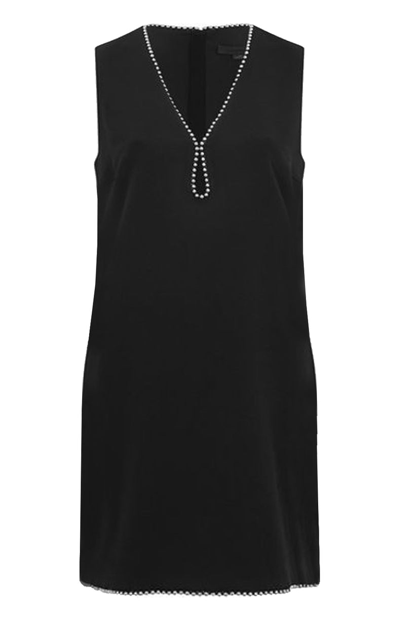 Ballchain Crepe Shift Dress