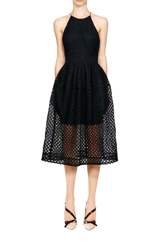 Black Lattice Dress