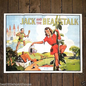 JACK AND THE BEANSTALK Vaudeville Theater Show Poster 1930s