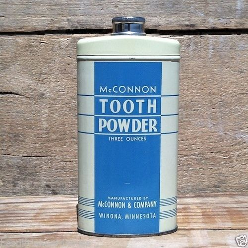 MCCONNON TOOTH POWDER Tin 1940s