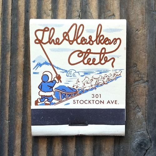 ALASKAN CLUB Eskimo Matchbook 1950s