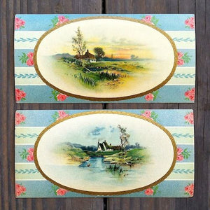 CANDY BOX Scenic Side Scene Prints 1880s