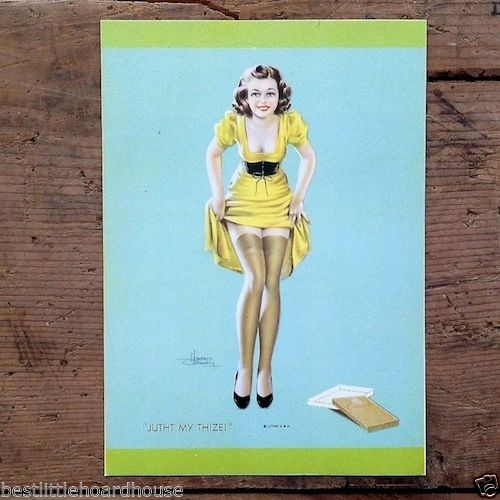 JUTHT MY THIZE Connolly Art Lithograph Pinup Print 1940s