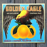GOLDEN EAGLE Citrus Orange SUNKIST Crate Box Label