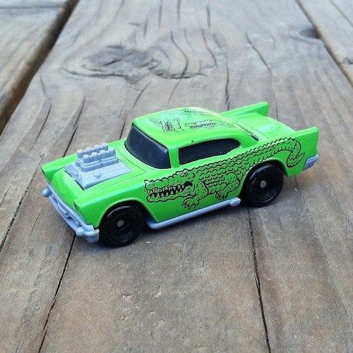 HOT WHEELS Green Alligator Tattoo Car 1993