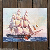 SHIPS AT SEA Sailing Ship Lithograph Prints 1929
