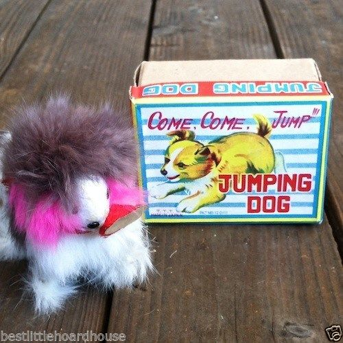 JUMPING DOG TOY Japan 1950s
