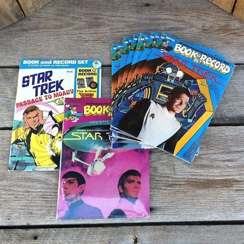 STAR TREK COMIC Story Book Record Set 1975-79