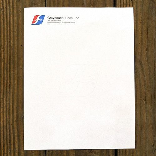 GREYHOUND BUS Letterhead Stationary 1970s