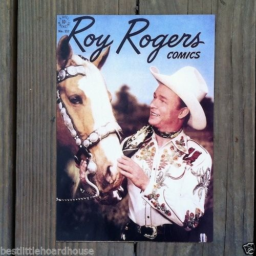 ROY ROGERS TRIGGER Comic Book Cover Print 1980s