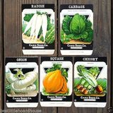 VEGETABLE SEED PACKS Set G Garden Collection 1920's