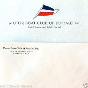 MOTOR BOAT CLUB STATIONARY Sheet & Envelope 1950s