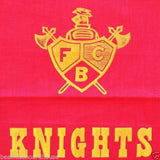 WELCOME KNIGHTS Fraternal Fabric Banner 1920s