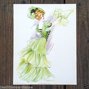 NEW YORK SHOWGIRL CASINO Victorian Lithograph Print 1907