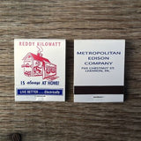 REDDY KILOWATT Matchbook Matches 1960s