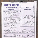 SANTA FE Railroad Railway Train Receipt Ticket 1970s