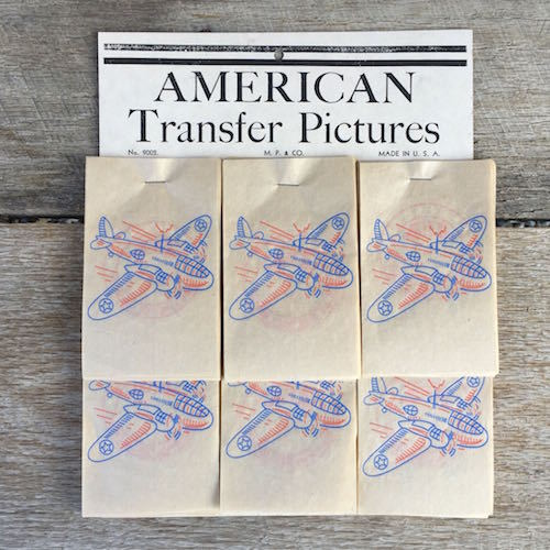 AMERICAN TRANSFER PICTURES Tattoo Decals Store Display 1940s