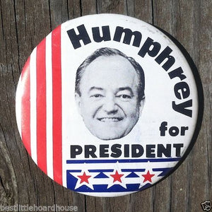 HUMPHREY FOR PRESIDENT Political Campaign Pin 1968