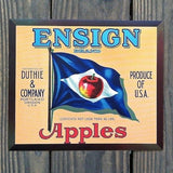 ENSIGN APPLES Fruit Crate Box Label
