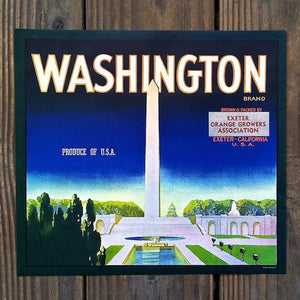 WASHINGTON MONUMENT Citrus Crate Box Label