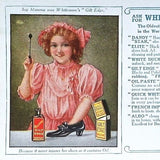 WHITTEMORE'S POLISHES Advertising Ink Blotter 1910