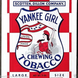 2 Yankee Girl CHEWING TOBACCO Smoke Bag 1930s