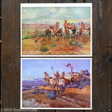 CHARLES RUSSELL Western Indian Art Print Set 1930s