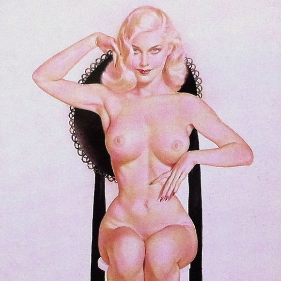 IVORY AND BLACK Vargas Pinup Print 1940s