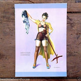 MISPLACED CONFIDENCE Elvgrin Pinup Lithograph Art Print 1940s