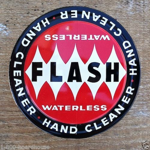 FLASH Hand Cleaner 1950s Art Deco Tin