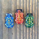 FROG CLICKERS Cricket Tin Toy Set 1930s