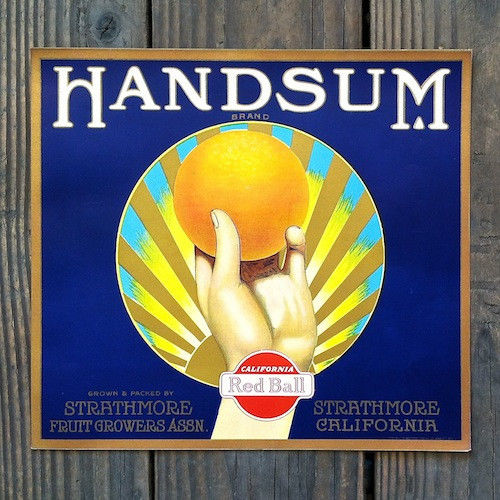 HANDSUM Citrus Crate Box Label