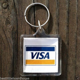 VISA CREDIT CARD Promotional Keychain 1970s