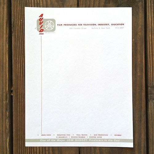 AUVID FILM PRODUCERS Stationary Sheets 1949-53