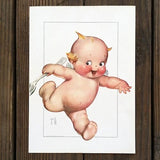 KEWPIE Art Lithograph Print w/ Large Spoon 1915