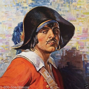 THE LOVE PIRATE Flohri Art Print 1928