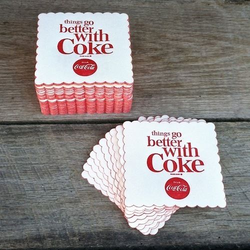 COCA-COLA COKE Drink Coasters 1963