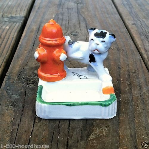 PEE PEE PUPPY Japan Dog Ashtray 1950s