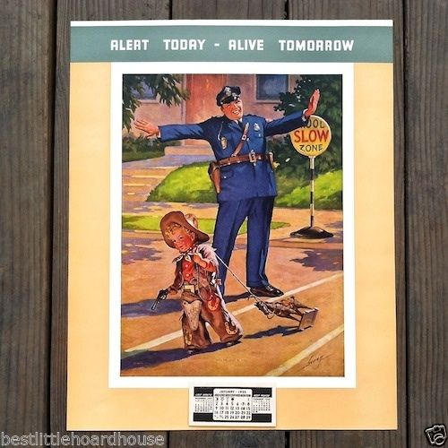UNTO THE LEAST OF THESE Promotional Policeman Calendar 1950s