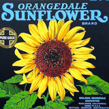 SUNFLOWER ORANGEDALE Citrus Crate Box Label 1920s