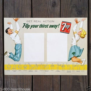 7-UP SODA BASKETBALL Menu School Program 1963