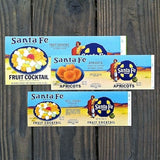 SANTA FE RAILROAD Can Labels Collection 1960s