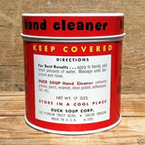 DUCK SOUP HAND CLEANER 1950s Empty Display Tin