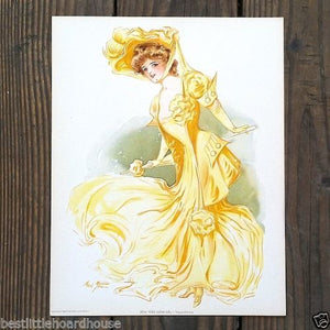 NY SHOW GIRL HIPPODROME Victorian Lithograph Print 1907