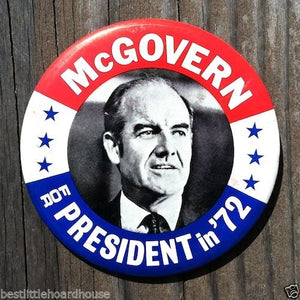MCGOVERN FOR PRESIDENT Political Campaign Pin 1972