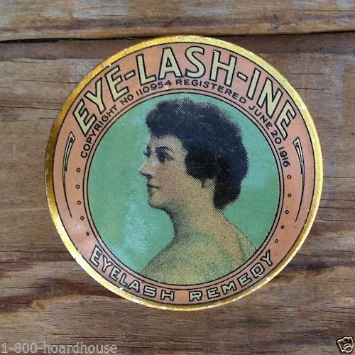 EYE-LASH-TINE Lashes Cosmetic Tin 1916