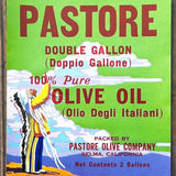 PASTORE OLIVE OIL Can Label 1940s