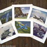 WWII VULTEE AIRPLANE Lithograph Print Collection 1940s